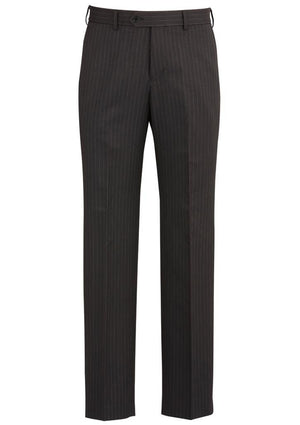 Biz Corporates-Biz Corporates Flat Front Pant-Charcoal / 77-Corporate Apparel Online - 4