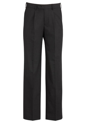 Biz Corporates-Biz Corporates Mens One Pleat Pant Stout-Charcoal / 107S-Corporate Apparel Online - 4