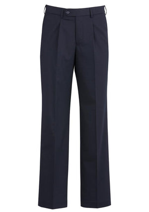 Biz Corporates-Biz Corporates Mens One Pleat Pant Stout-Navy / 107S-Corporate Apparel Online - 5