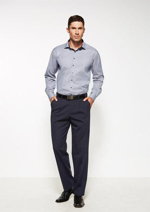 Biz Corporates-Biz Corporates One Pleat Pant Regular--Corporate Apparel Online - 1