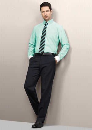 Biz Corporates-Biz Corporates Mens One Pleat Pant Stout--Corporate Apparel Online - 1