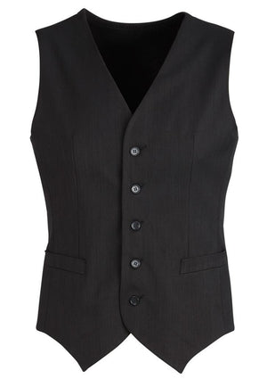 Biz Corporates-Biz Corporates Men's Peaked Vest with Knitted Back-Black / 87-Corporate Apparel Online - 2
