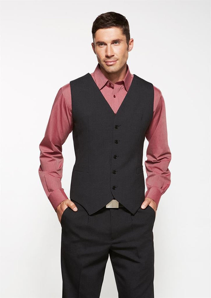 Biz Corporates Men's Peaked Vest with Knitted Back (94011)