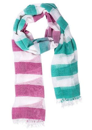 Biz Corporates-Biz Corporate Ladies Two Tone Scarf-MELON/ALASKAN BLUE / One Size-Corporate Apparel Online - 2