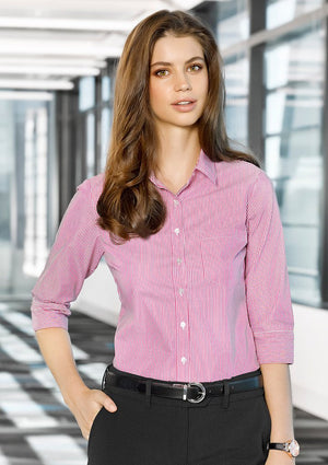 Biz Corporates-Biz Corporates Advatex Lindsey Ladies 3/4 Sleeve Shirt--Corporate Apparel Online - 1