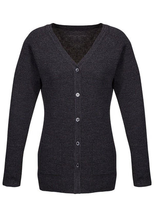 Biz Corporates-Biz Corporate Advatex Varesa Ladies Cardigan-Charcoal / XS-Corporate Apparel Online - 3
