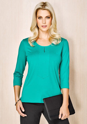 Biz Corporate Advatex Ladies Abby 3/4 Sleeve Knit Top (AC41511)