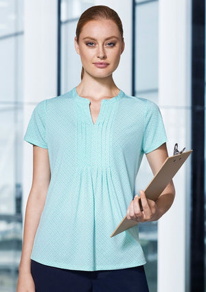Biz Corporate Advatex Ladies Ella Diamond Pleat Knit Top (AC42812)