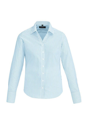 Biz Corporates-Biz Corporates Vermont Ladies Long Sleeve Shirt-Alaskan Blue / 4-Corporate Apparel Online - 5