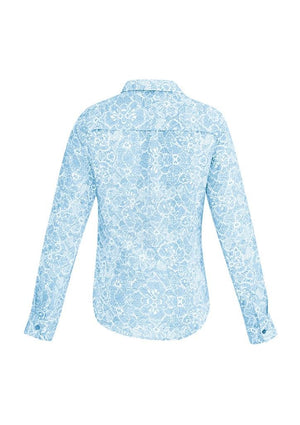 Biz Corporates-Biz Corporates Solanda Ladies Print Long Sleeve Shirt--Corporate Apparel Online - 5