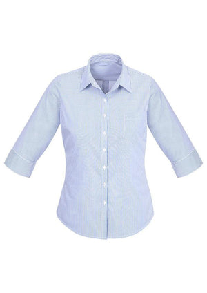 Biz Corporates-Biz Corporates Advatex Lindsey Ladies 3/4 Sleeve Shirt-Blue / 4-Corporate Apparel Online - 2