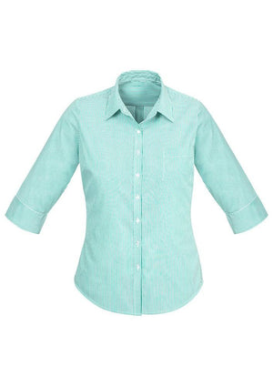 Biz Corporates-Biz Corporates Advatex Lindsey Ladies 3/4 Sleeve Shirt-Dynasty Green / 4-Corporate Apparel Online - 4