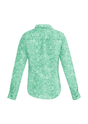 Biz Corporates-Biz Corporates Solanda Ladies Print Long Sleeve Shirt--Corporate Apparel Online - 7