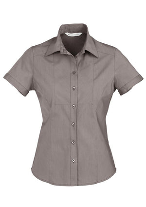 Biz Collection Ladies Chevron Short Sleeve Shirt (S122LS)