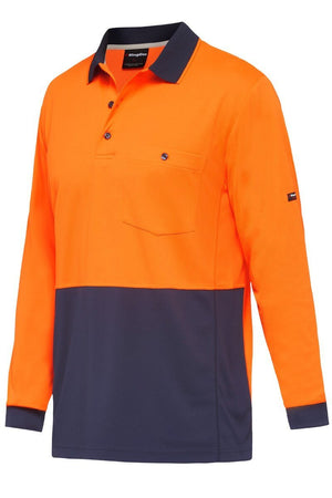 King Gee Hyperfreeze Spliced L/S Polo-(K54235)