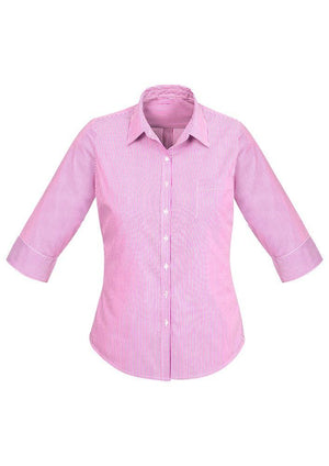 Biz Corporates-Biz Corporates Advatex Lindsey Ladies 3/4 Sleeve Shirt-Melon / 4-Corporate Apparel Online - 6