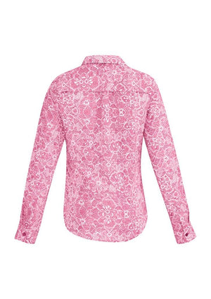 Biz Corporates-Biz Corporates Solanda Ladies Print Long Sleeve Shirt--Corporate Apparel Online - 9