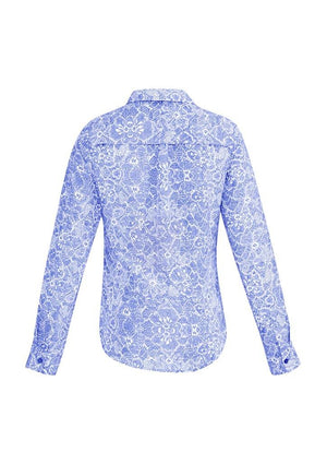 Biz Corporates-Biz Corporates Solanda Ladies Print Long Sleeve Shirt--Corporate Apparel Online - 10