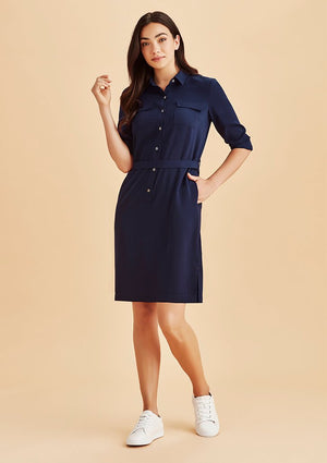 Biz Corporate Womens Chloe Georgette Shirt Dress (RD069L)