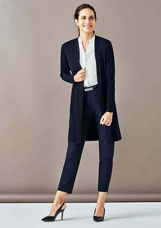 Biz Corporate Womens Chelsea Long Line Cardigan RLC970L