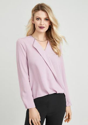 Biz Collection Lily Ladies Hi-lo Blouse (S014LL)