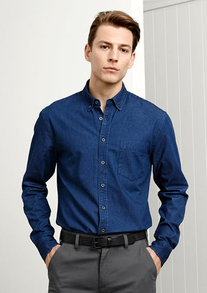 Biz Collection Indie Mens Long Sleeve Shirt  (S017ML)