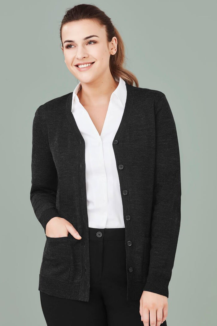 Biz Care Womens Button Front Cardigan (CK045LC)