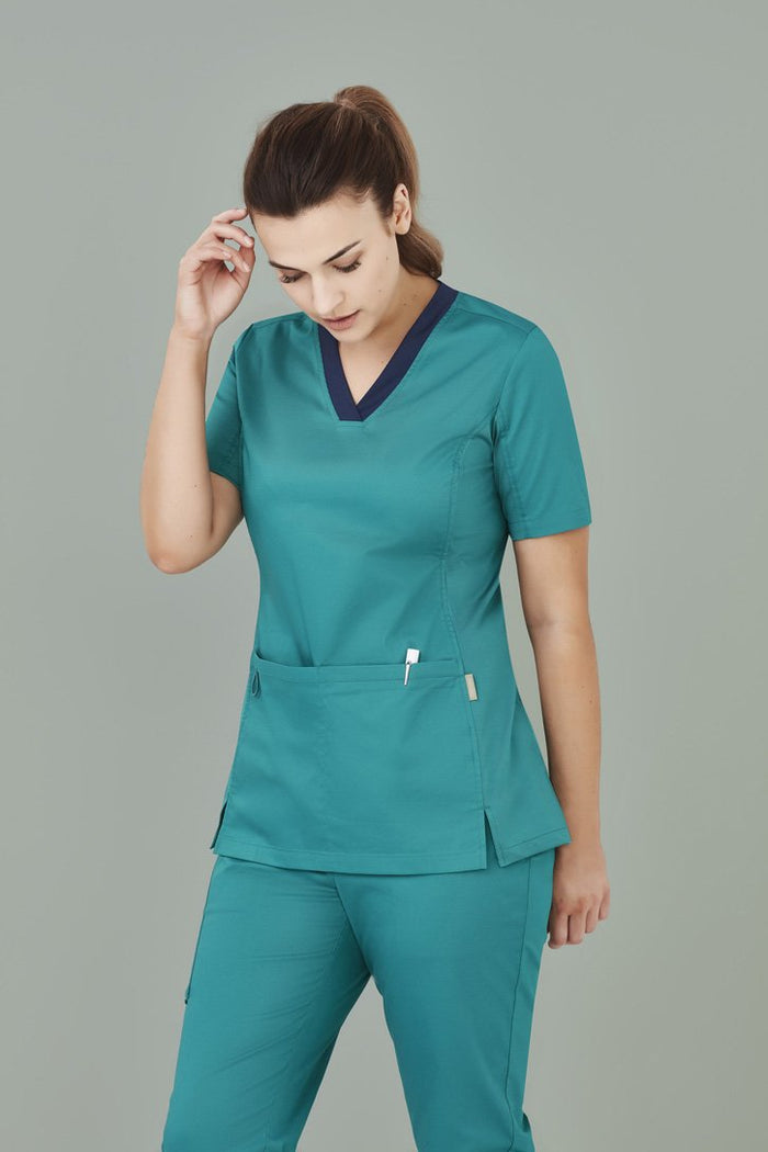 Biz Care Womens Riley V-neck Scrub Top (CST043LS)