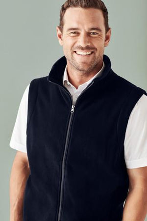 Biz Care Mens Plain Micro Fleece Vest  (F233MN)