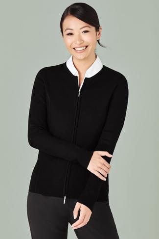 Biz Care Ladies 2-way Zip Cardigan (LC3505)