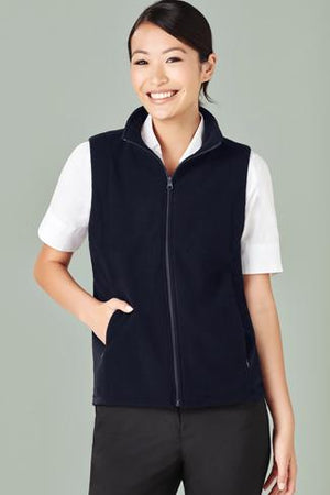 Biz Care Ladies Plain Micro Fleece Vest  (PF905)