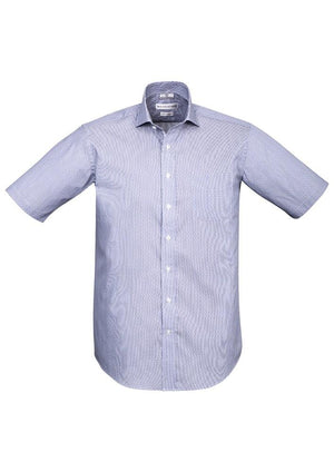 Biz Corporates-Biz Corporates Calais Mens Short Sleeve Shirt-Turkish Blue / XS-Corporate Apparel Online - 4