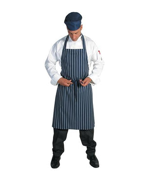 DNC Pinstripe Full Bib Apron No Pocket (2536)