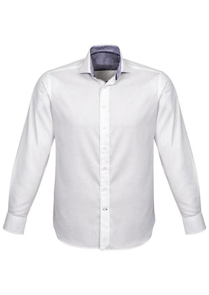 Biz Corporates-Biz Corporates Herne Bay Mens Long Sleeve Shirt-White/Turkish Blue / XS-Corporate Apparel Online - 4
