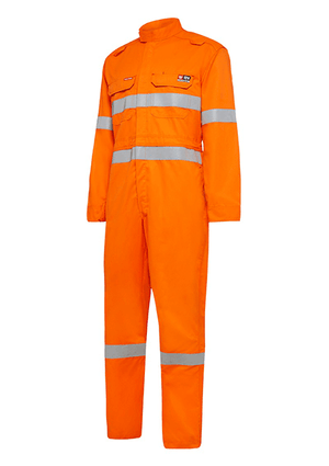 Hard Yakka Shieldtec Fr Lightweight Hi-Visibility Coverall With Fr Tape (Y00080)
