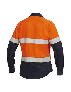 Hard Yakka Women'S Shieldtec Fr Hi-Visibility Two Tone Open Front Long Sleeve Shirt With Fr Tape (Y04050)