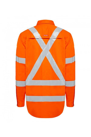 Hard Yakka Biomotion Hi Visibility Shirt with tape (Y04275)
