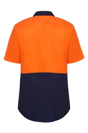 Hard Yakka S/Sl L/Weight Drill 2 Tone Ventilated Shirt (Y04620)