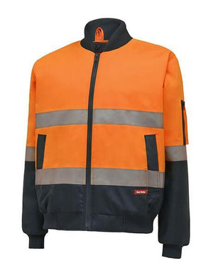 Hard Yakka Hi-Visibility 2Tone Bomber Jacket With Hoop Tape (Y06675)