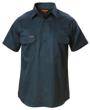 Hard Yakka Cotton Drill Shirt Closed Front Short Sleeve (Y07540)