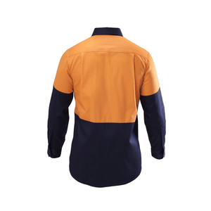 Hard Yakka  Hi-visibility Two Tone Cotton Drill Shirt Long Sleeve (Y07982)