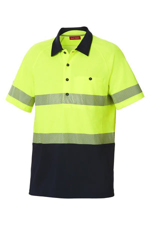 Hard Yakka Koolgear Hi-Visibility Two Tone Short Sleeve Ventilated Polo With Segmented Tape (Y11383)