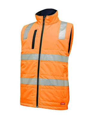 Hard Yakka Hi Vis Puffa Vest With Tape (Y19510)