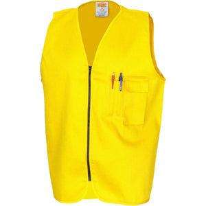 DNC Workwear-DNC Patron Saint Flame Retardant Drill ARC Rated Safety Vest-Yellow / XS-Uniform Wholesalers - 2