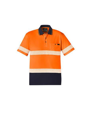Unisex Hi Vis Segmented S/S Polo - Hoop Taped (ZH535)