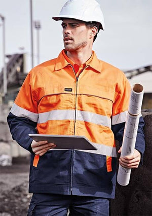 Syzmik ZJ590 Mens Hi Vis Cotton Drill Jacket
