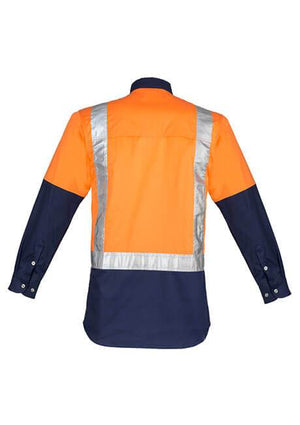 Syzmik Mens Hi Vis Spliced Industrial Shirt - Shoulder Taped (ZW124)