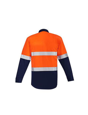 Syzmik Mens Orange Flame Hrc 2 Hoop Taped Open Front Spliced Shirt (ZW140)