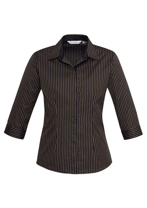 Biz Collection Ladies Reno Stripe 3/4 Shirt (S415LT)