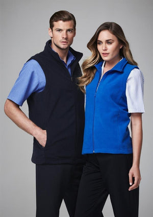 Biz Collection Mens Plain Microfleece Vest (F233MN)